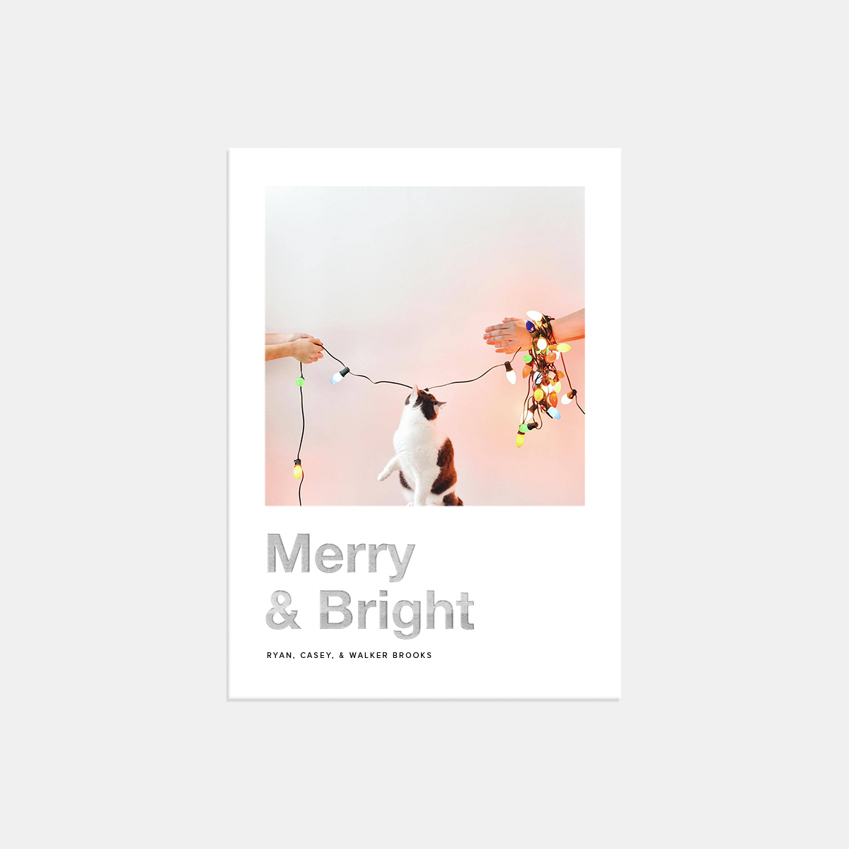 Artifact Uprising Bold Merry & Bright Holiday Card