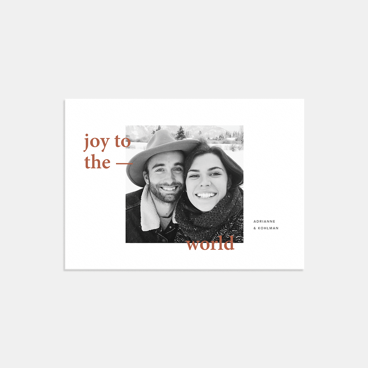 Artifact Uprising Joy to the World Holiday Card