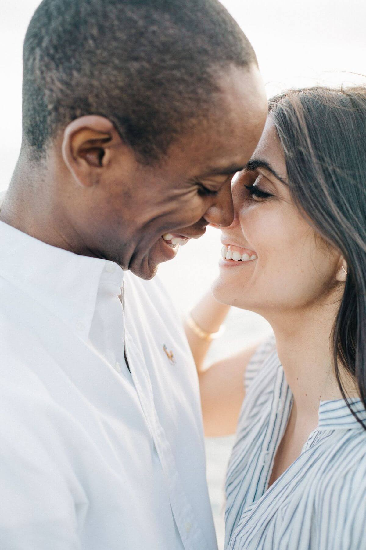 Photo of couple taken at initial test shoot when choosing a wedding photographer